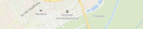 Karte Parkplatz Triamare Bad Neustadt
