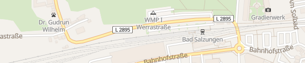 Karte Schnellladesäule Bahnhof Bad Salzungen
