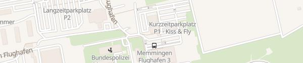 Karte Airport Memmingen