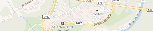 Karte Hotel Der Waldhof St. Anton am Arlberg