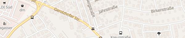 Karte Park and Ride-Parkplatz Bergstraße Sennfeld