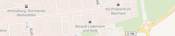 Karte Renault Autohaus Lüdemann & Sens Ahrensburg
