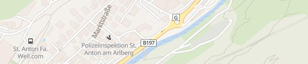 Karte Tesla Supercharger St. Anton am Arlberg