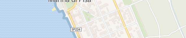 Karte Via Duodi Duodo Marina di Pisa