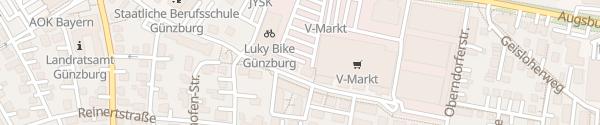 Karte V-Markt Günzburg