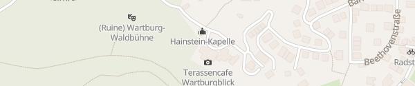 Karte Hotel Haus Hainstein Eisenach