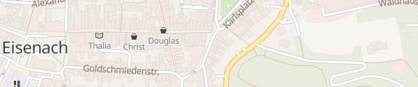 Karte Johannisstrasse Eisenach