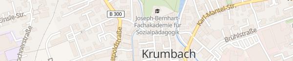 Karte Lechwerke AG Ladesäule Krumbach