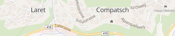 Karte Hotel Cresta und Erlebnisrestaurant Almrausch Samnaun-Compatsch