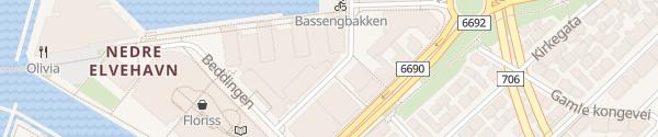 Karte Solsiden Kjøpesenter Trondheim