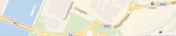 Karte Losgata Trondheim