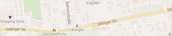 Karte V-Markt Lauingen