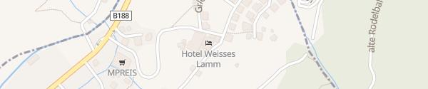 Karte Hotel Weisses Lamm See