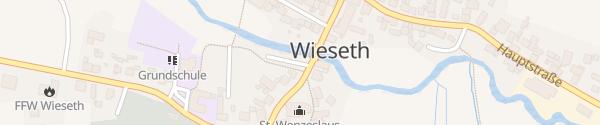 Karte Wanderparkplatz Wieseth