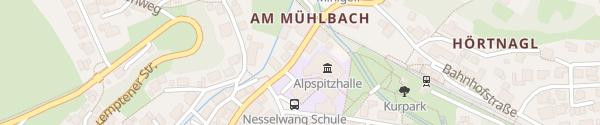 Karte Parkplatz Alpspitzhalle Nesselwang
