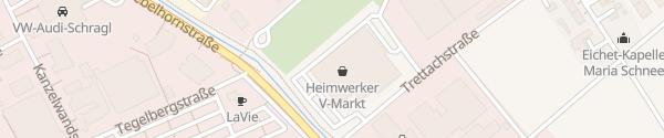 Karte V-Markt Baumarkt Mindelheim