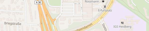 Karte Thüringenplatz Braunschweig
