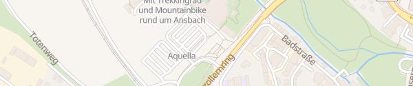 Karte Bad Aquella Ansbach