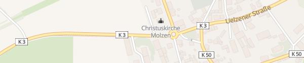 Karte Schnellladesäule Christuskirche Molzen Uelzen