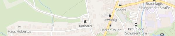 Karte Rathaus Braunlage