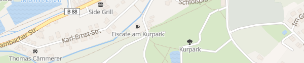 Karte Parkplatz Kurpark Georgenthal