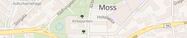 Karte Kirkegata Moss
