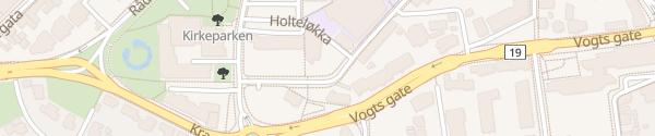 Karte Skoggata p-plass Moss
