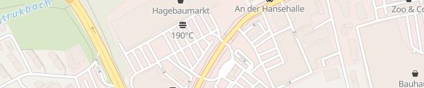 Karte Hagebaumarkt Lübeck