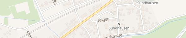 Karte Sundhausen Gotha