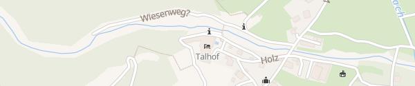 Karte Natur & Wanderhotel Talhof Wangle