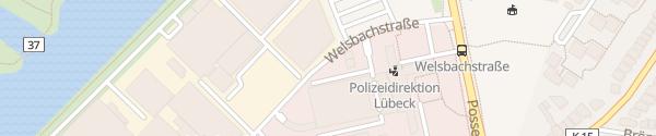 Karte Behördenhochhaus Lübeck