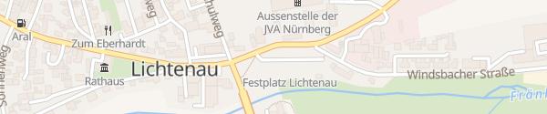 Karte Festplatz Lichtenau