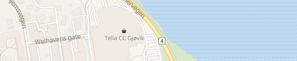 Karte CC Gjøvik Gjøvik