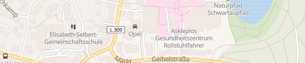 Karte Asklepios Klinik Bad Schwartau