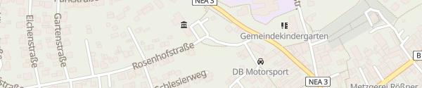Karte Rosenhofstraße Uehlfeld