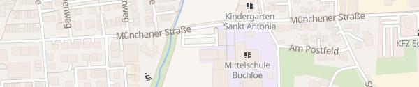 Karte Parkplatz Hallenbad / Mittelschule Buchloe