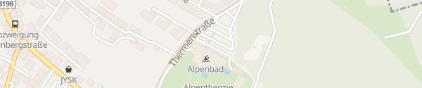 Karte Alpentherme Ehrenberg Reutte