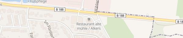 Karte Alte Mühle Weyhausen
