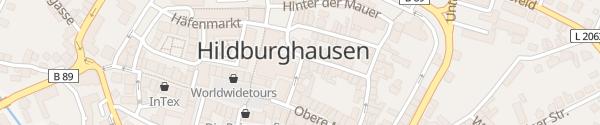 Karte Marktplatz Hildburghausen