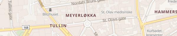 Karte Edderkoppen P-hus Oslo