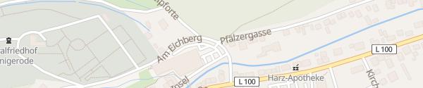 Karte Parkplatz Hochschule Wernigerode