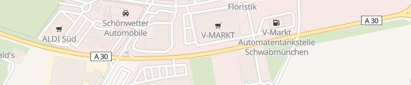 Karte V-Markt Schwabmünchen