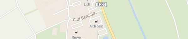 Karte ALDI Süd Carl-Benz-Straße Ebern