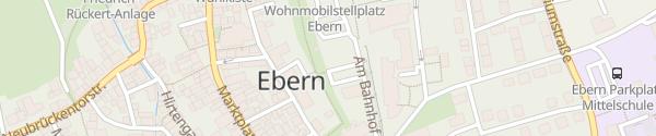 Karte Bahnhof Ebern