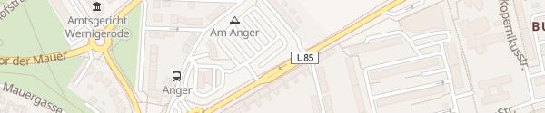 Karte Schnellladesäule Parkplatz am Anger Wernigerode