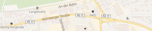 Karte Nürnberger Straße Langenzenn