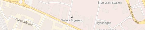 Karte Circle K Brynseng Oslo