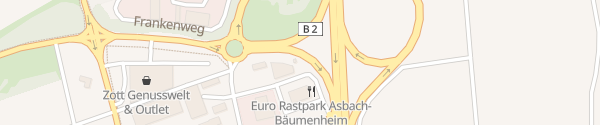 Karte Euro Rastpark Asbach-Bäumenheim