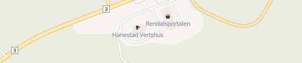 Karte Hanestad Vertshus Rendalen