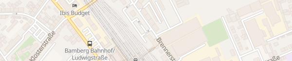 Karte P&R am Radhaus/Bahnhof Bamberg